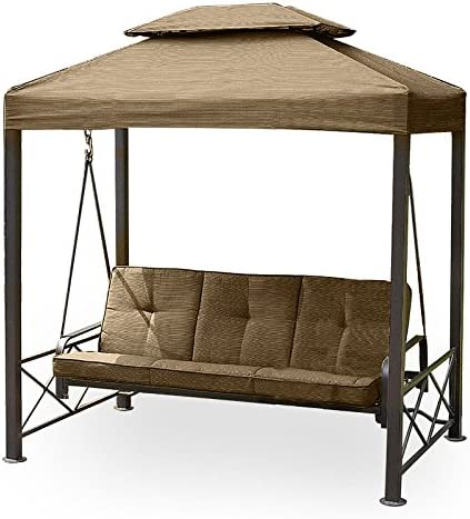 Garden Winds Gazebo 3-Seat Swing Replacement Canopy Top Cover