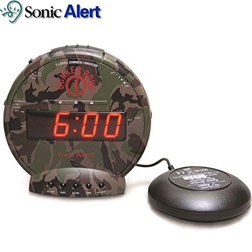 Sonic Alert Bunker Bomb Super Shaker Vibrating Bed Alarm Cloc