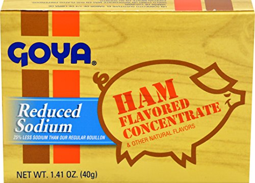 Goya Foods Ham Flavored Concentrate Reduced Sodium, 1.41 Ounce (Pack of 36) (Ham Flavoring Goya)