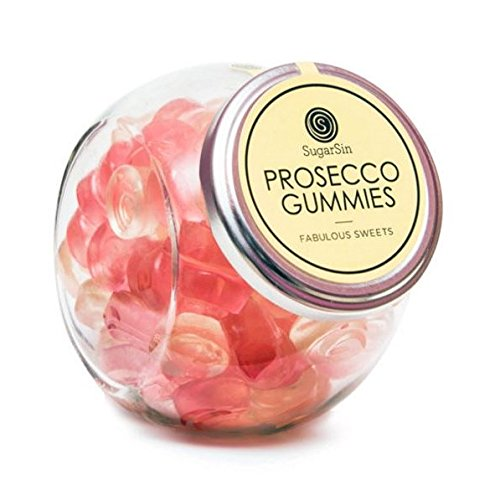 SugarSin Sparkling Prosecco Flavour Gummies Jelly Candy Sweets (non-alcoholic), 250 gms