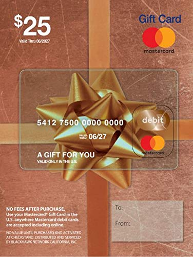 $25 Mastercard Gift Card (plus $3.95 Purchase Fee) (Reloadable Debit Card)