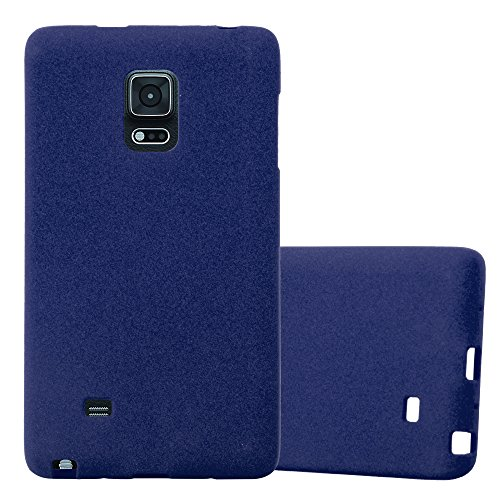Cadorabo – TPU Ultra Slim Frosted Silicone cover for > Samsung Galaxy NOTE EDGE < – Etui Cover Protection Bumper Skin in FROST-DARK-BLUE