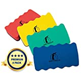 Magnetic Whiteboard Eraser Set - Premium 4 Color Pack - For Dry Erase Pens And Markers - Strong Magnet Sticks To All Dry-erase White Boards - 4 x 2.3 x 0.8 - Cleaner For Home, School And Office
