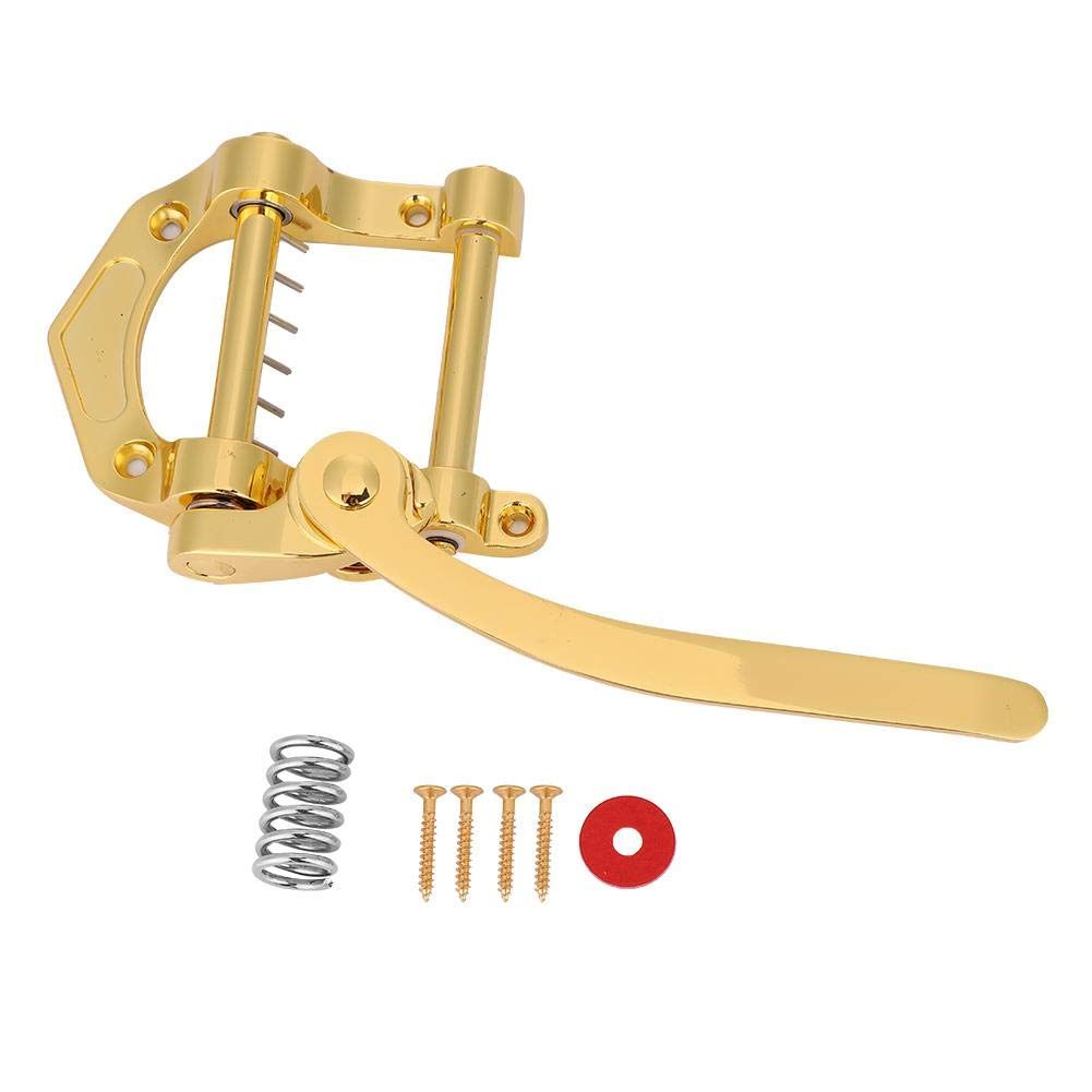 Guitar Vibrato, Bigsby Vibrato Tailpiece Tremolo for SG LP Jazz Guitars Musical Instrument (Gold) Dilwe Dilwe2c7vfd8seq-01
