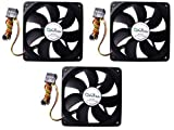 APEVIA 120mm 4pin & 3pin Black Silent Case Fan (3-pk) CF312S-BK