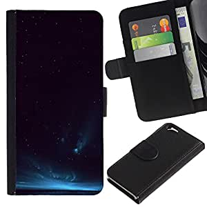 For Apple Apple iPhone 6(4.7 inches),S-type® Aurora Borealis Blue Night Sky Lights - Dibujo PU billetera de cuero Funda Case Caso de la piel de la bolsa protectora