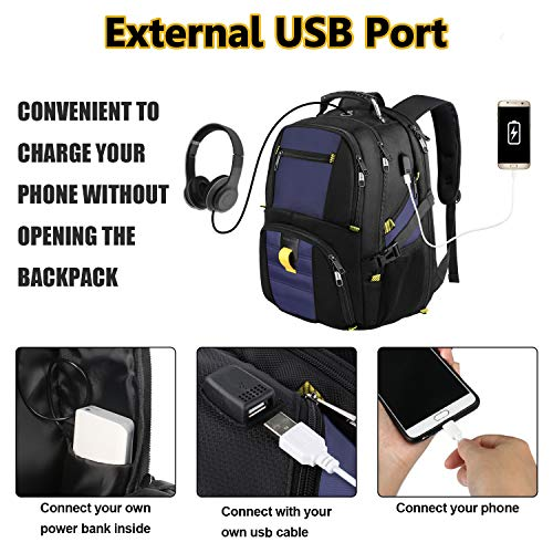 School BackpackTravel Laptop Backpack with USB Charging PortTSA Friendly Extra Large Business