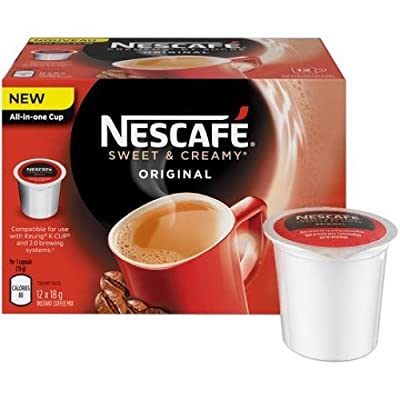 Nescafe Sweet & Creamy Original Coffee, RealCup Portion Packs for Keurig 2.0 K-Cup Brewers
