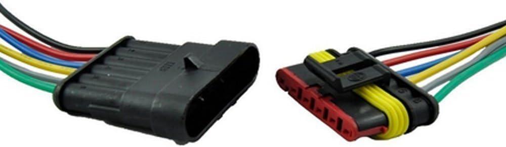 5 Broches 1Pcs Qiorange 5 Broches Voiture /Étanche Connecteur /Électrique avec Fil Wire AWG Marine