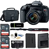 Canon EOS Rebel T7i DSLR 24.2MP 1080p Wi-Fi Digital SLR Camera with 18-55mm IS STM Lens + 2x SanDisk 32GB SDHC Cards + Reader + Gadget Case - 64GB Accessories Bundle