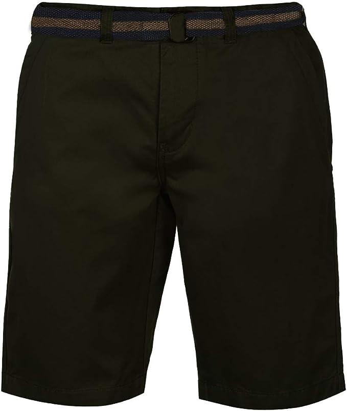 TALLA S. Pierre Cardin Hombre Pantalones Cortos Chinos Clásicos 100% Algodón conCintura Trenzada - multicolor - Mediana - XX tamaños grandes disponibles