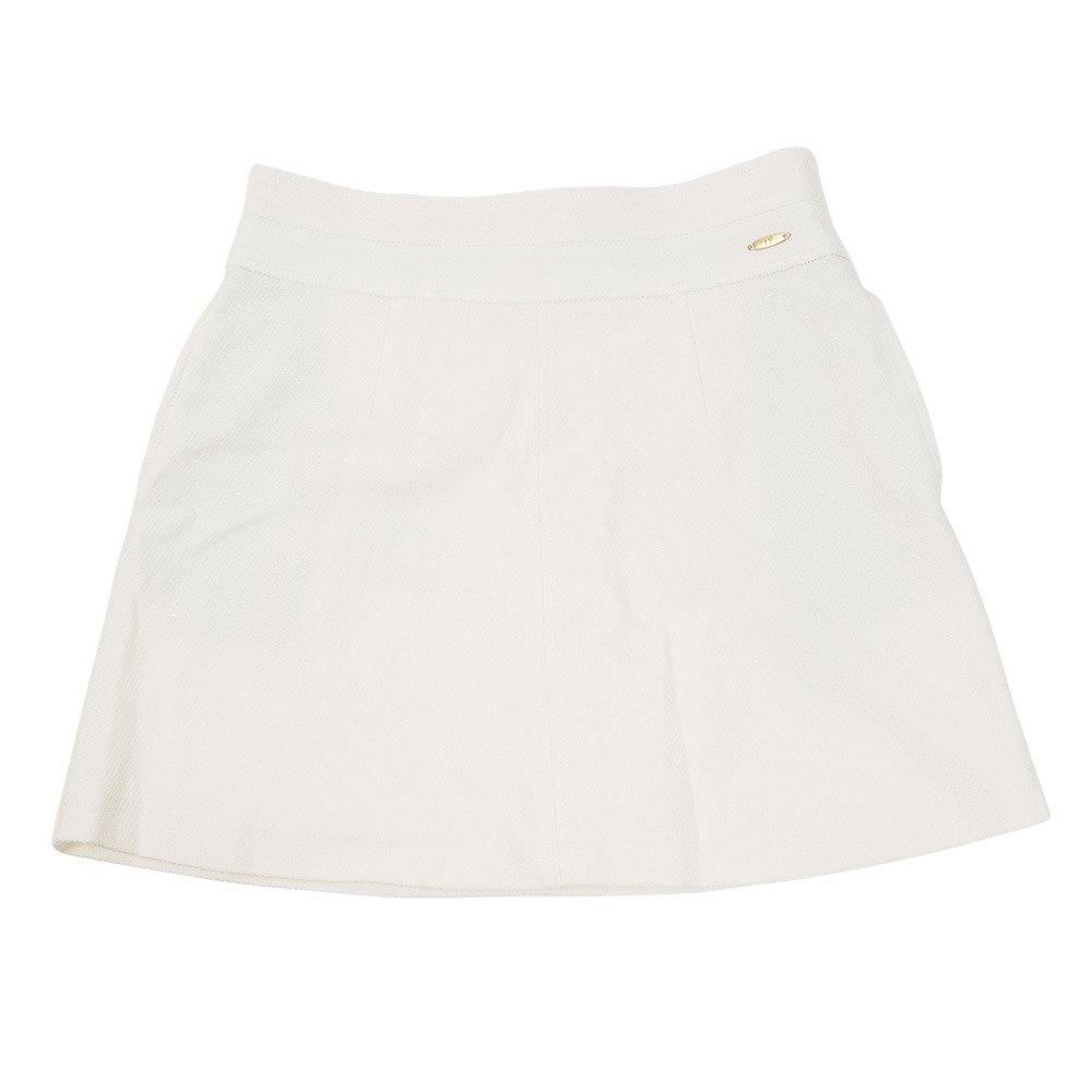ヒールクリーク(ヒールクリーク) Lファンシーツイルストレッチスカート 002-77240-005 L オフホワイト B07J1Y7H6K