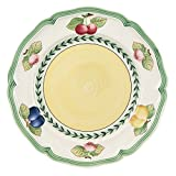 French Garden Fleurence Salad Plate Set of 6 by Villeroy & Boch - Premium Porcelain - Made in Germany - Dishwasher & Microwave Safe - 8.25 inches - Serves 6