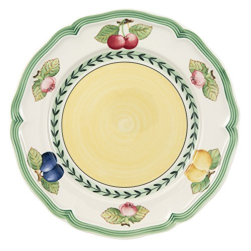 French Garden Fleurence Salad Plate Set of 6 by Villeroy & Boch - 8.25 inches Country Cottage Salad Plate