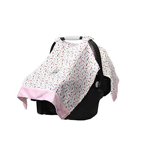 Itzy Ritzy Cozy Happens Muslin Infant Car Seat Canopy - Floa