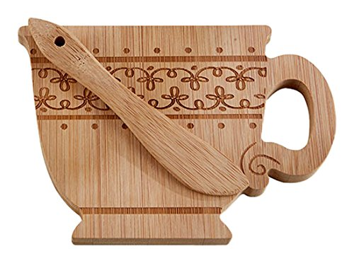 - Kate Aspen 22067NA Whimsy Teacup-Shaped Cheeseboard & Spreader