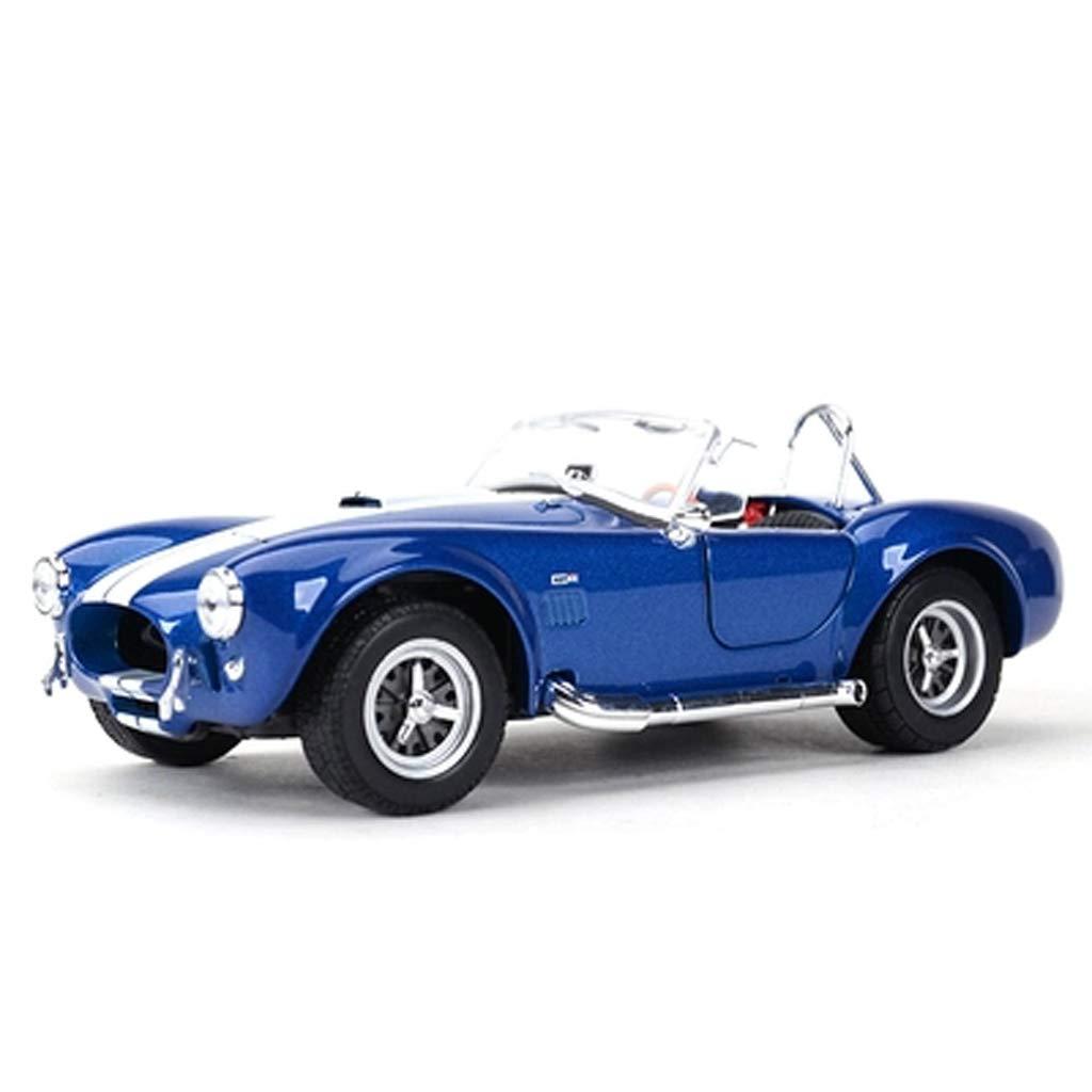 GAOQUN-TOY 1 24 Ford Shelby 427 Eye Snake Converdeibile Classic Car Simulation Alloy Car Model (colore   Blu, Dimensioni   16.5cm7.2cm5.5cm)
