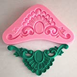 Longzang Art Deco Silicone Mold Sugar Craft DIY Gumpaste Cake Decorating Clay