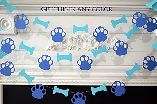 Puppy Dog Themed Paper Garland Birthday Decorations Party Pawty