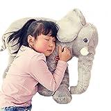 ZUUXI Stuffed Elephant Plush Toy Doll (23 Inches long Grey)