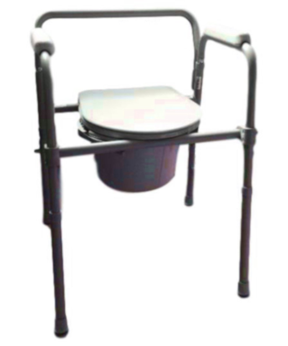 Commode Pot For Adults Bedside Chair Portable Seat Toilet Light Storage Lid Stand Bench Chamber Pot & eBook by AllTim3Shopping.