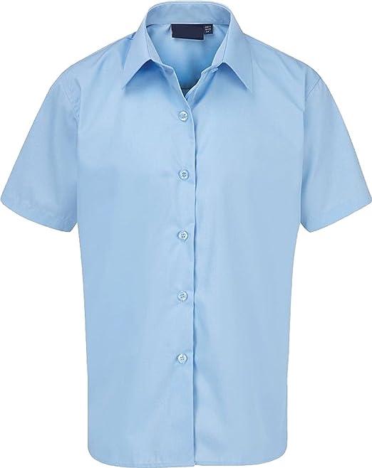 Boys School 2 Pack Long Sleeve Shirts Light Blue  sizes Age 3-18 Uniform