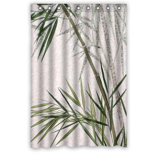 Custom Waterproof Fabric Bathroom Shower Curtain Vintage Bamboo 48'(w) x 72'(h)