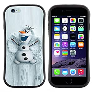 Apple (4.7 inches!!!) iPhone 6 , Radio-Star - Slim Fit Dual Barniz Protector Caso Case Funda ( Snowman White Winter Cartoon Character)