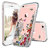 iPhone 6 Plus Case, iPhone 6s Plus Case, MOSNOVO Floral Humming Bird Flower Clear Design Transparent Plastic Hard Case with TPU Bumper Protective Case Cover for Apple iPhone 6 Plus 6s Plus (5.5 Inch)