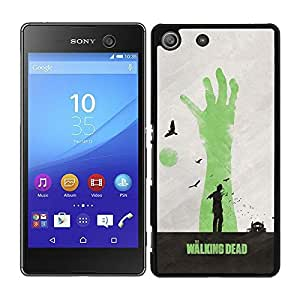 Funda carcasa para Sony Xperia M5 diseño the walking dead 2 borde negro