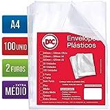 Blister 100 Envelopes A4 Extra Medio 2 Furos, DAC, Blister 100 Envelopes A4 Extra Medio 2 Furos 5179A4-100, Transparente, 5179A4-100