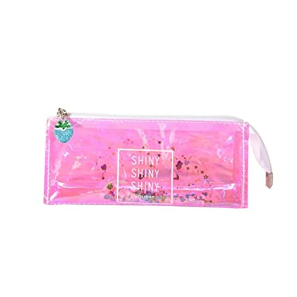 Stationery Holder Hand Gesture Lip Sequin Liquid Pen Pencil Case Student Zipper Bag Pouch Gift Pvc Big Clearance Sale