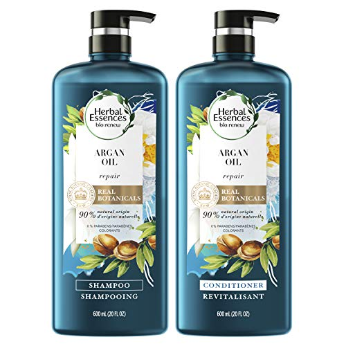 Herbal Essences Shampoo And Sulfate Free Conditioner Kit, Safe for Color Treated Hair, BioRenew Repairing Argan Oil Of Morocco Color-Safe