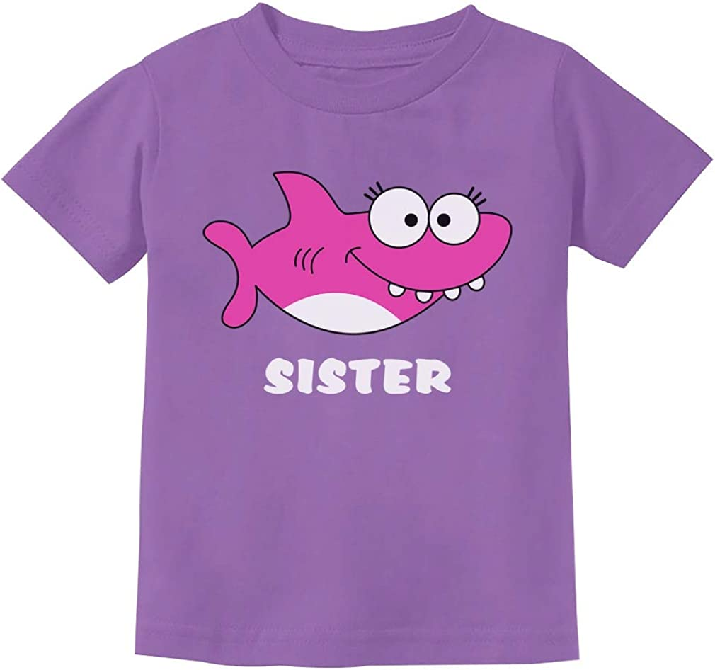 Shark Shirt for Sister Gift for Big Sister Toddler Kids T-Shirt
