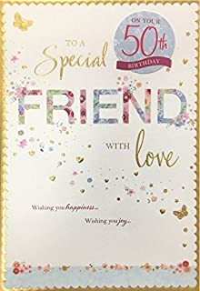 Friend Female Birthday Card With Special Milestone Ages 50TH 60TH 70TH 80TH Wishing You