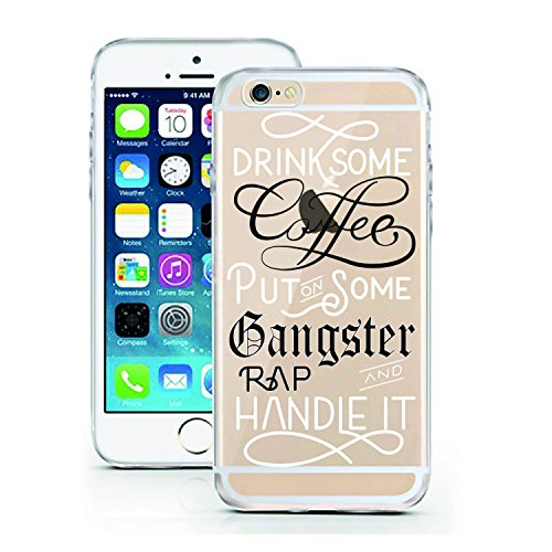 Swallow Mobile (iPhone 6 6S Case by licaso for the iPhone 6 6S TPU Disney Case Coffee Gangster Rap Handle it Motivation Clear Protective Cover iphone6 Mobile Phone Sleeve Bumper (iPhone 6 6S, Coffee Gangster Rap))