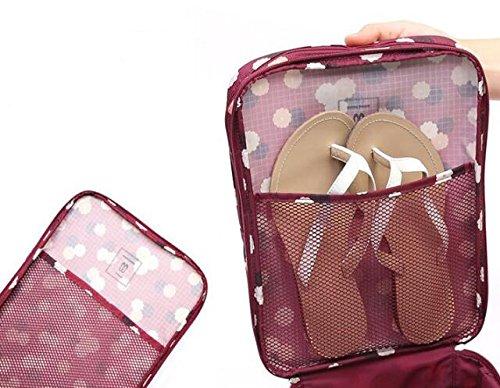 1PC Fashion Travel Portable Shoe Bags Multicolor Storage Organizer Bag for Men Women (Purple) by erioctry (Image #6)
