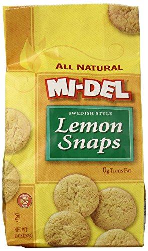 Mi-Del Cookies, Lemon Snaps, 10 (Mi Del Ginger Snaps)