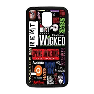 Broadway Collage Design Solid Rubber Case for SamSung Galaxy S5,diy cover case s5-linda34