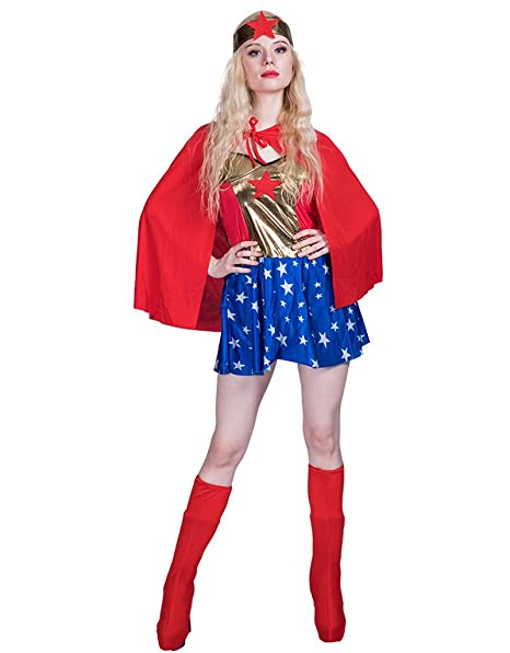 JANDZ Disfraces de Carnaval Traje de Cosplay de Mujer Adulta ...