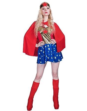 Jandz Karneval Kostume Erwachsene Frauen Cosplay Outfit Superheld