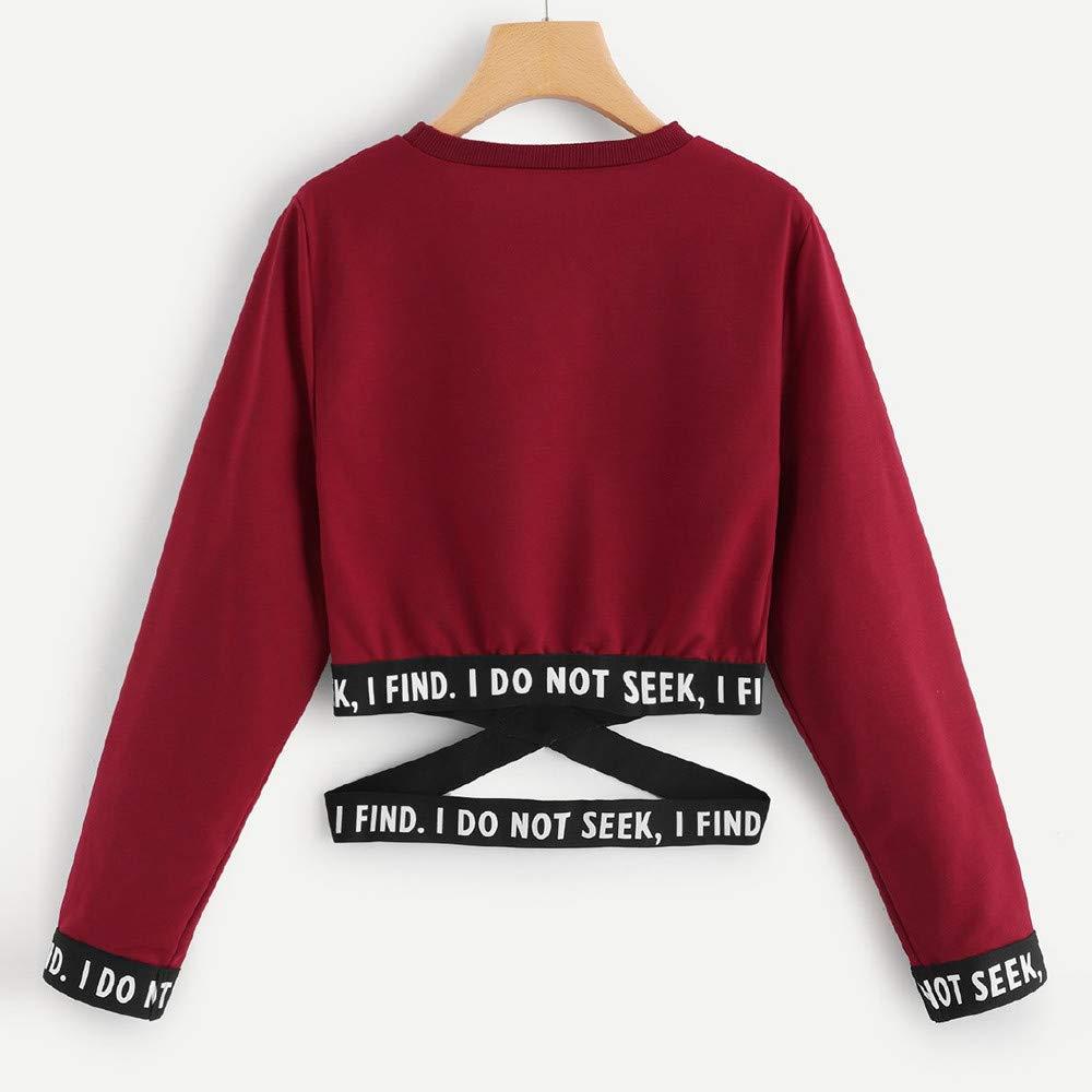 Amazon.com : Sweatshirts Women Crop Top Straps Elegant ...