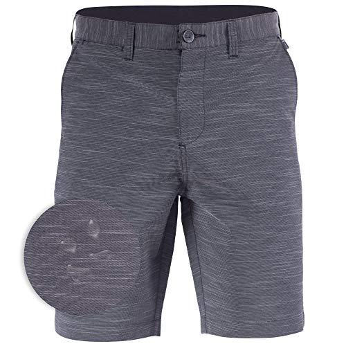 Mens Hybrid Golf Shorts Stretch Quick Dry Swim Trunks Boardshorts Black - 33