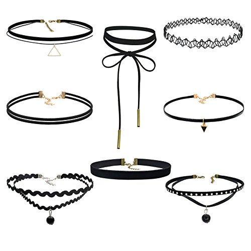 Besteel 8 10pcs Choker Necklace Adjustable