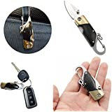 Mangocore Small Buckle Pocket QQ Knife Multifunctional Outdoor Folding Survival Mini Camping Knife with Nylon Bag