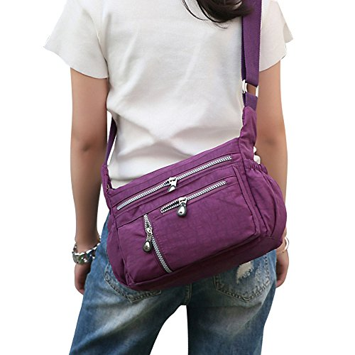 Purses Messenger Wocharm Bag Crossbody Purple Bags Handbags Shoulder Nylon Casual Women SSxrE