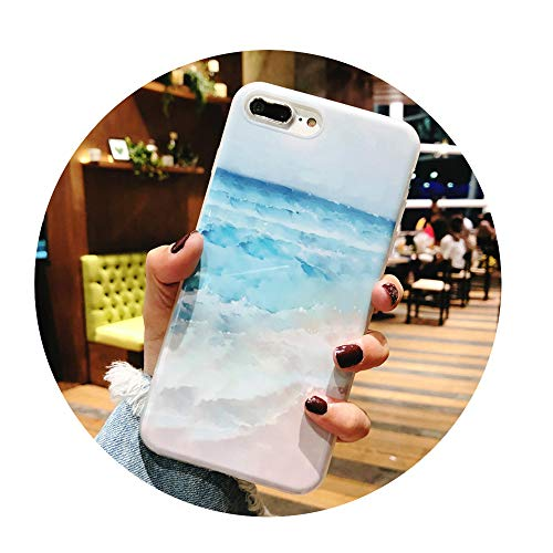 Wave Dangle (Blue Ocean Waves Phone Case For iphone 7951 For iPhone 7)