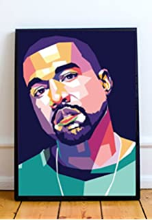 amazon com 24x36 kanye west black and white music poster posters