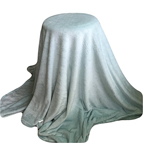 Personalized Blanket 5'x6' - Solid Aqua- Custom Embroidery - Monogrammed Throw Blanket - Ultra Plush
