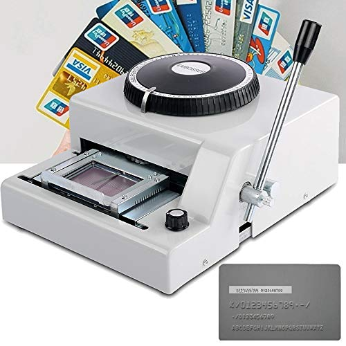 72 Characters Letters Manual Embosser Stamping Machine Credit ID PVC Card Magnetic Embossing Printer